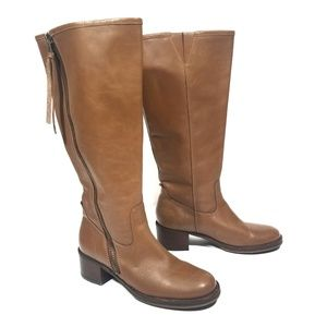 Lucky Brand Tan Heston Knee High Leather Boots / 8